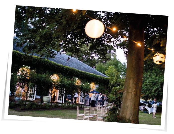 External Fairy Lights Wedding South West