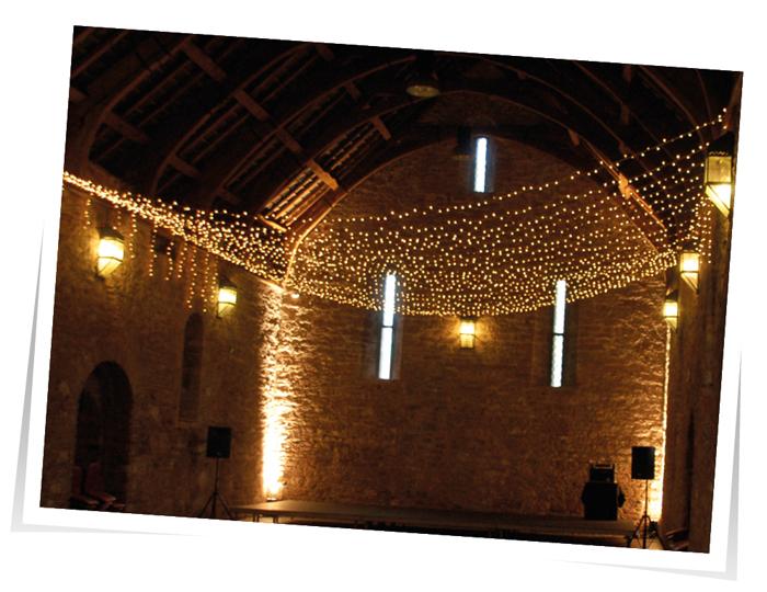 Fairy-Light-canopy Wedding Lights Devon