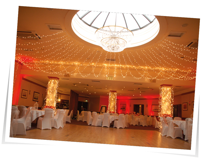 Column Lighting Grand Hotel Wedding Torquay