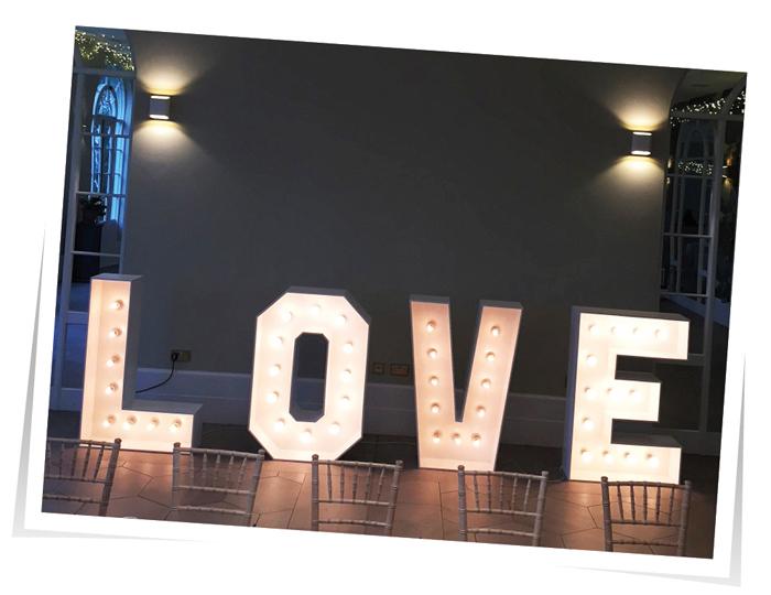 Love Letters lighting