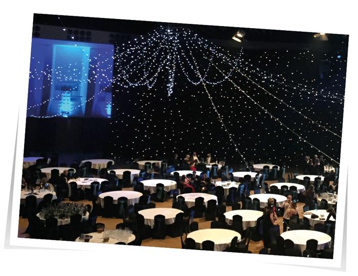 Corporate event lighting Devon