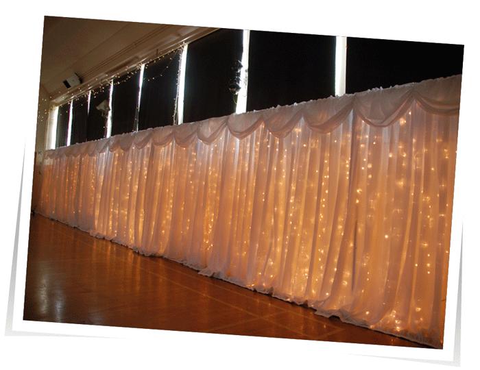 Fairly light curtain Devon Wedding